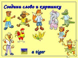 Соедини слово и картинку a tiger