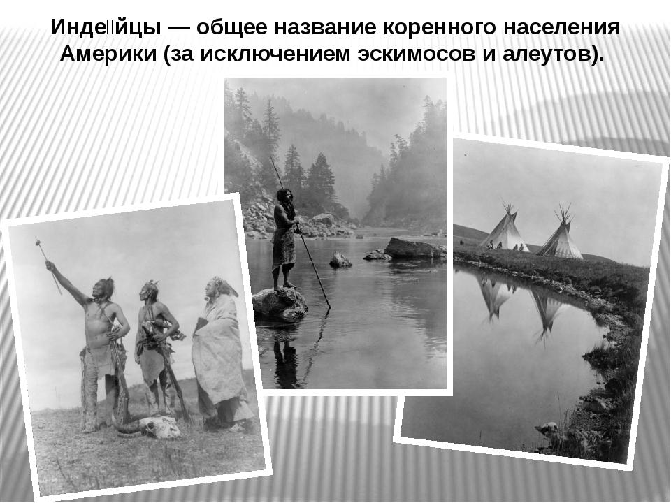 Инде́йцы — общее название коренного населения Америки (за исключением эскимос...