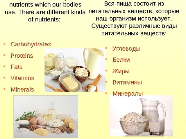 All food is made up of nutrients which our bodies use. There are different ki...