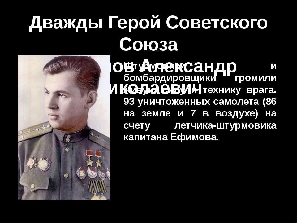 Дважды Герой Советского Союза Ефимов Александр Николаевич Штурмовики и бомбар...