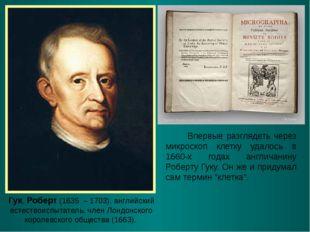Гук, Роберт (1635 – 1703), английский естествоиспытатель, член Лондонского ко