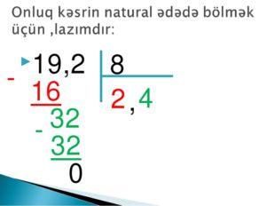 19,2 8 2 16 - 4 32 32 - 0 ,