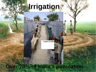 Irrigation Over 70% of India's population