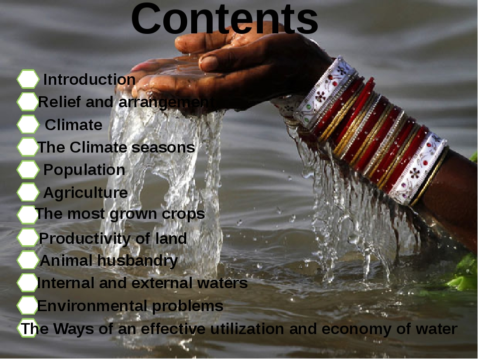 Contents Introduction Relief and arrangement Climate The Climate seasons Popu...
