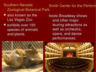 Southern Nevada Zoological-Botanical Park also known as the Las Vegas Zoo exh