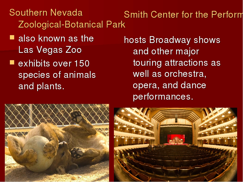 Southern Nevada Zoological-Botanical Park also known as the Las Vegas Zoo exh...