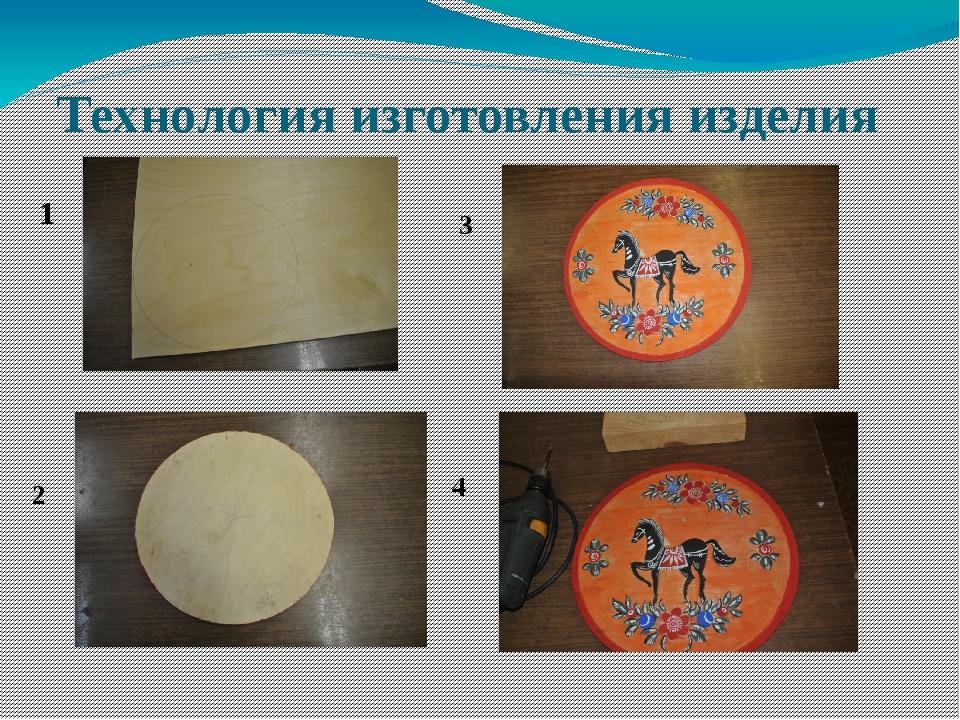 Технология изготовления изделия 1 2 3 4