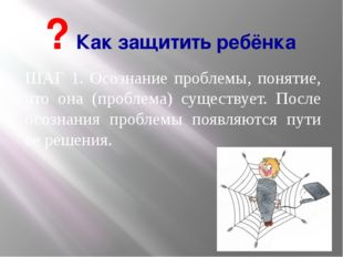 ШАГ 1. Осознание проблемы, понятие, что она (проблема) существует. После осоз