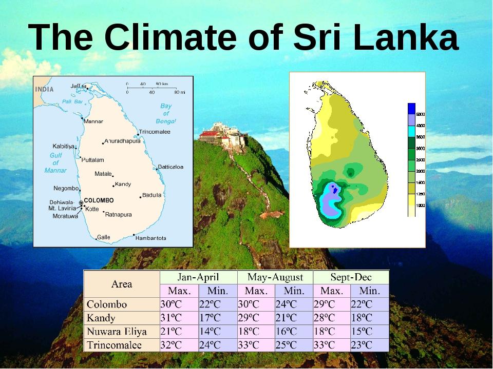The Climate of Sri Lanka