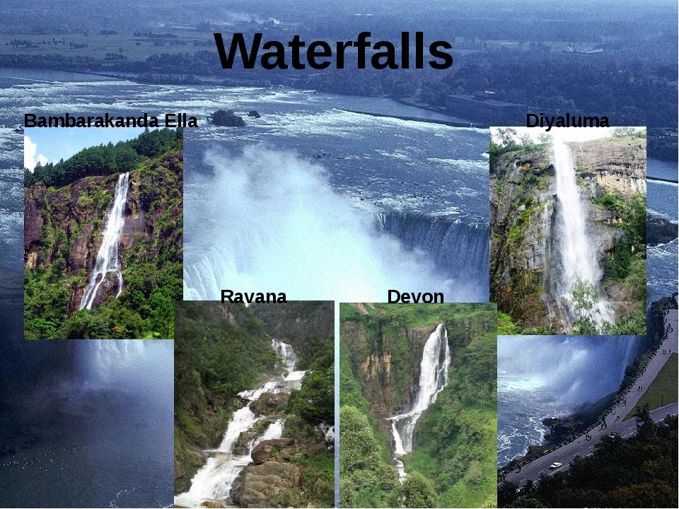 Waterfalls Bambarakanda Ella Diyaluma Ravana Devon