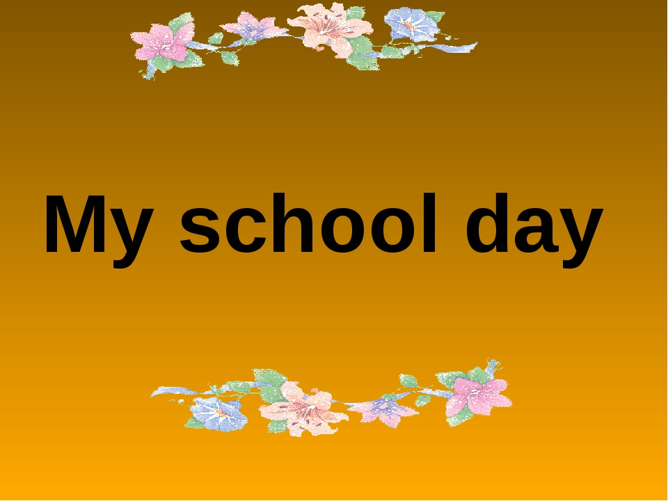 My school day