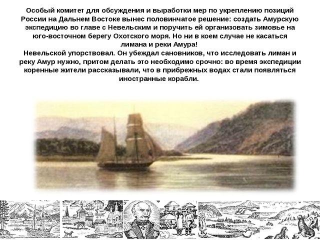 Особый комитет для обсуждения и выработки мер по укреплению позиций России на...