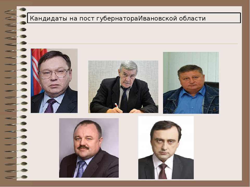Кандидаты на пост губернатораИвановской области