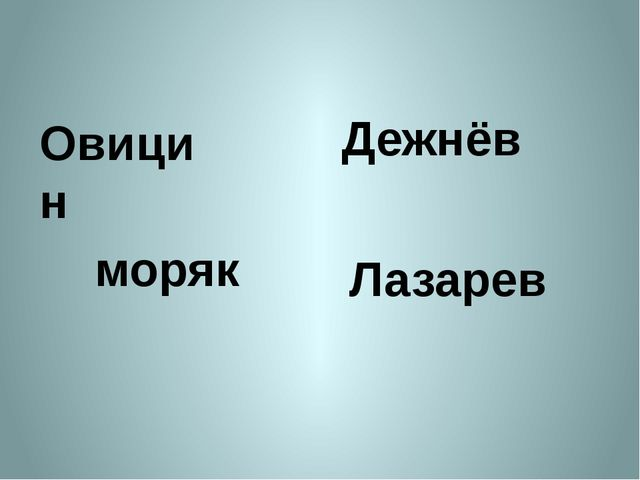 Овицин Дежнёв моряк Лазарев