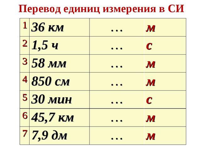 Перевод единиц измерения в СИ Подумай и ответь 136 км…м 21,5 ч…с 358 м...
