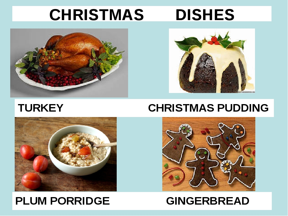CHRISTMAS DISHES TURKEY CHRISTMAS PUDDING PLUM PORRIDGE GINGERBREAD