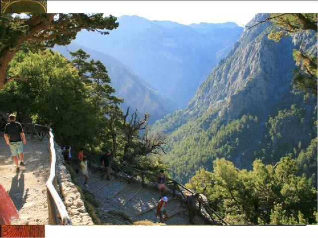 а Ущелье Самария Самарийское ущелье находится на юго-западе острова Крит. Sam...