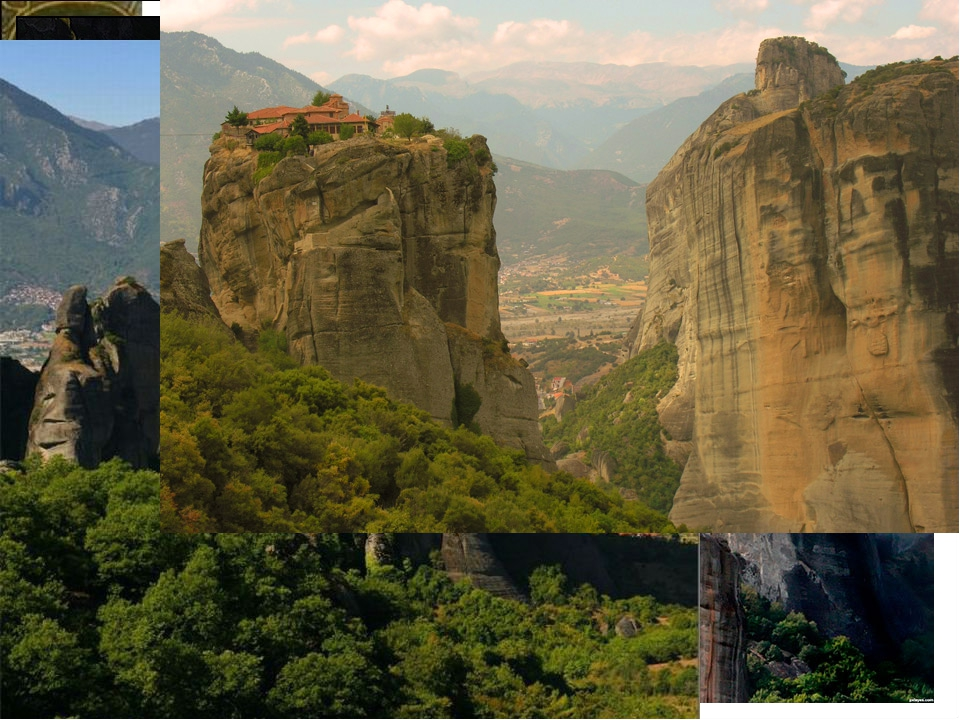 а Монастыри – Метеоры Монастырский комплексMeteora, расположенный на вершина...