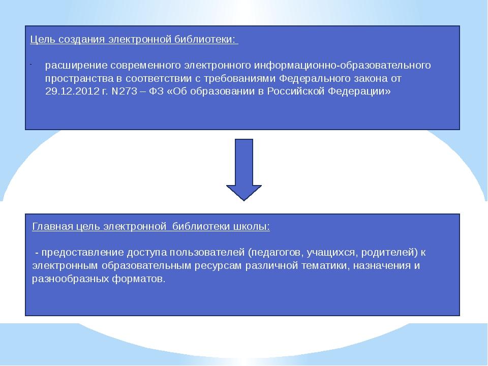 Цель создания электронной библиотеки: расширение современного электронного и...