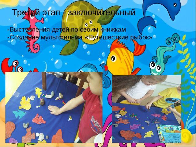 Третий этап - заключительный -Выступления детей по своим книжкам -Создание му...