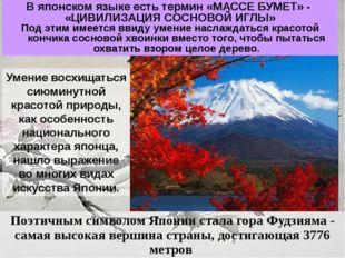 Поэтичным символом Японии стала гора Фудзияма - самая высокая вершина страны,