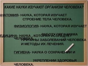 АНАТОМИЯ- НАУКА, КОТОРАЯ ИЗУЧАЕТ СТРОЕНИЕ ТЕЛА ЧЕЛОВЕКА. ФИЗИОЛОГИЯ- НАУКА, К