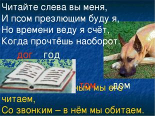 С глухим согласным мы его читаем, Со звонким – в нём мы обитаем. Читайте слев