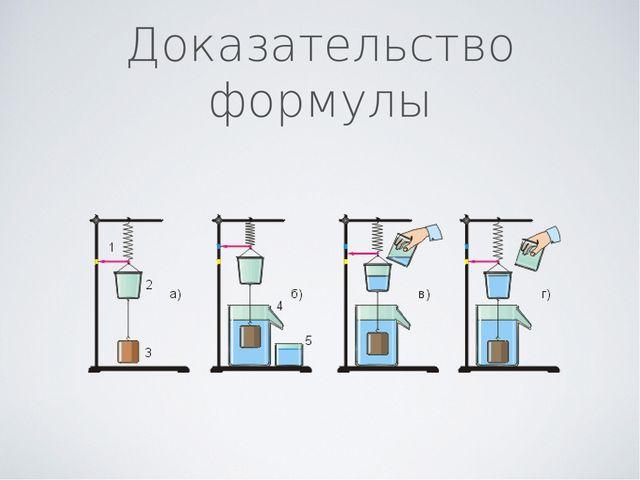 Доказательство формулы