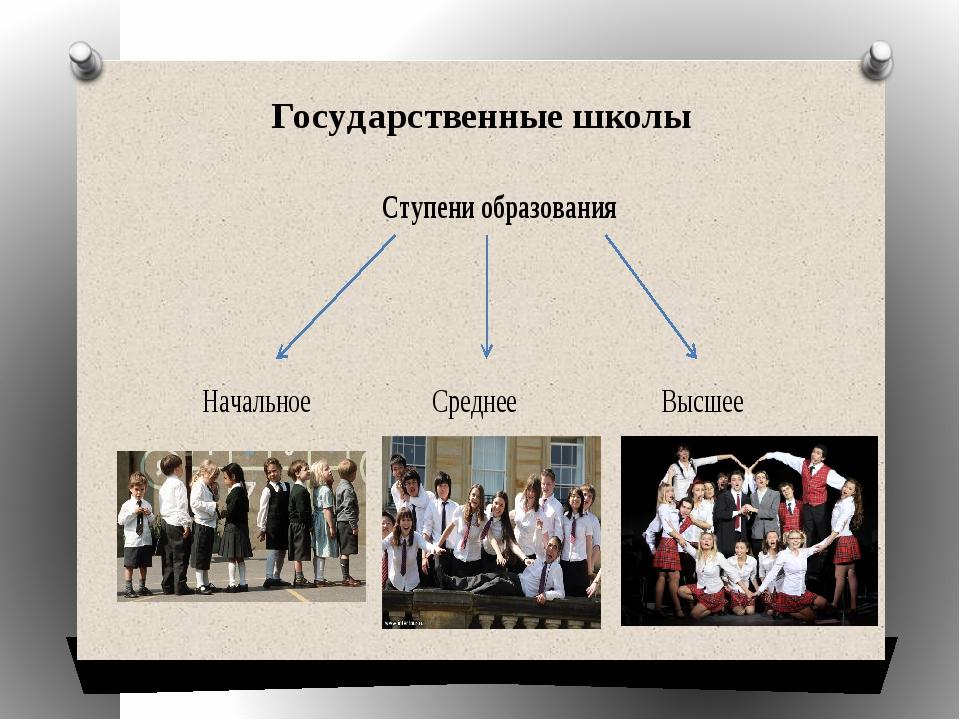 Государственные школы