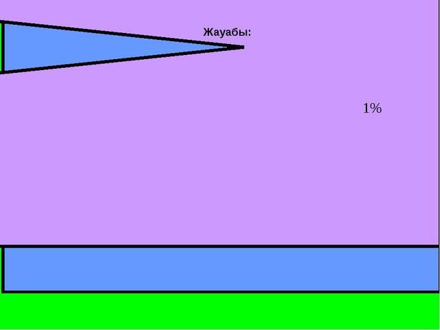 көміртегі Инертті газдар Оттегі Азот 00,3 78% 21% Жауабы: 1%