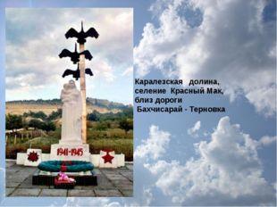 Каралезская долина, селение Красный Мак, близ дороги Бахчисарай - Терновка