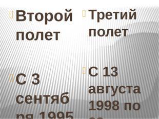 Второй полет С 3 сентября 1995 по 29 февраля 1996 года в качестве бортинжене