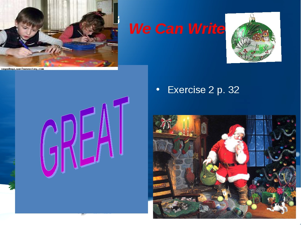 : We Can Write Exercise 2 p. 32