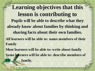 Learning objectives that this lesson is contributing to Pupils will be able t