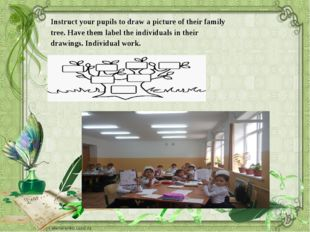 Instruct your pupils to draw a picture of their family tree. Have them label