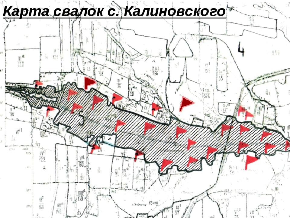 Карта свалок с. Калиновского