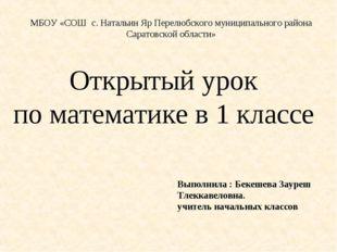 МБОУ «СОШ с. Натальин Яр Перелюбского муниципального района Саратовской облас