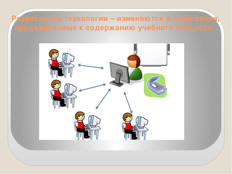 Развиваются технологии – изменяются и требования, предъявляемые к содержанию...