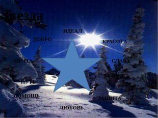 Звезда ИДЕАЛ КРАСОТА МЕЧТА СЛАВА ЛЮБОВЬ ТЕПЛО ДОБРО ПОМОЩЬ ЗАЩИТА ПУТЬ