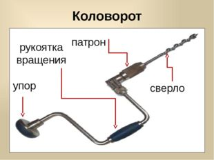 упор рукоятка вращения патрон сверло Коловорот