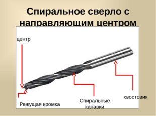 Спиральное сверло с направляющим центром центр Спиральные канавки хвостовик Р