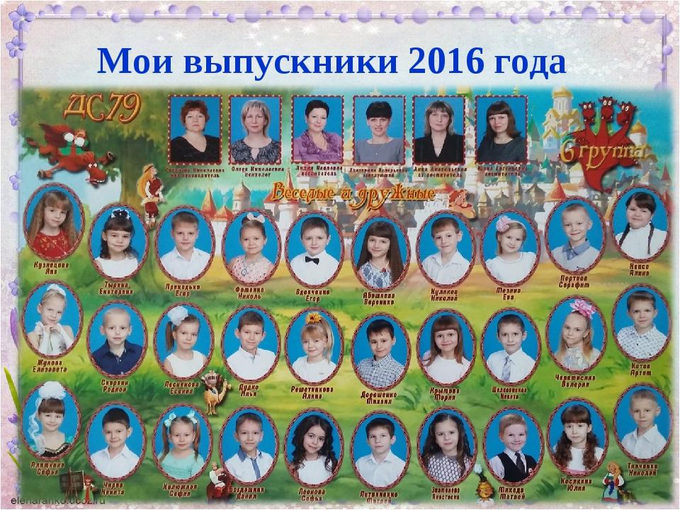 Мои выпускники 2016 года