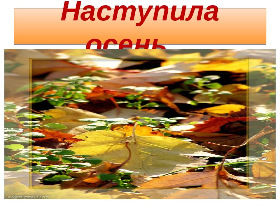 Наступила осень…