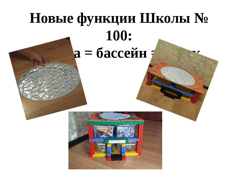 Новые функции Школы № 100: школа = бассейн = каток