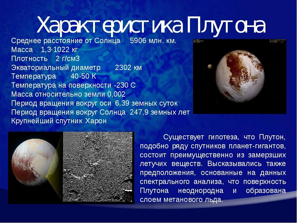 Среднее расстояние от Солнца5906 млн. км. Масса1,3·1022 кг Плотность2 г/см...