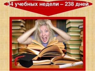 34 учебных недели – 238 дней
