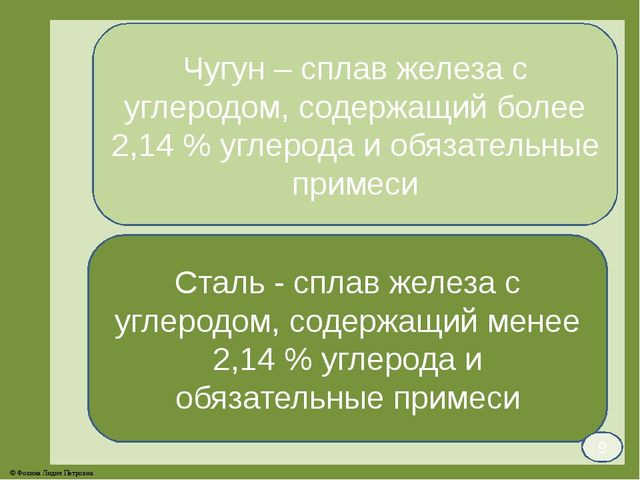 Чугун – сплав железа с углеродом, содержащий более 2,14 % углерода и обязател...