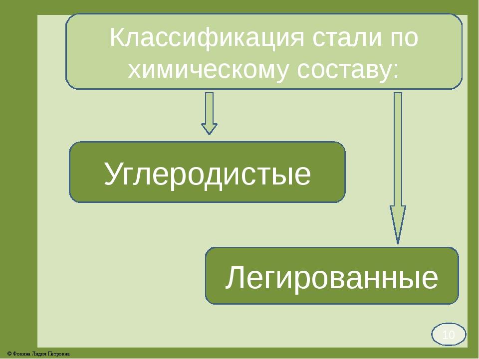 Классификация стали по химическому составу: Углеродистые Легированные 10 © Фо...