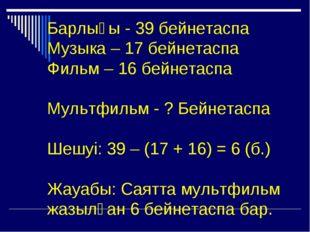 Барлығы - 39 бейнетаспа Музыка – 17 бейнетаспа Фильм – 16 бейнетаспа Мультфил