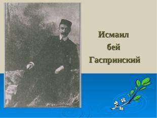 Исмаил бей Гаспринский